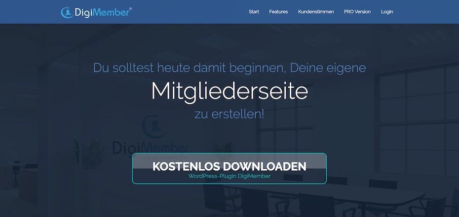 DigiMember - Mitgliederseite mit WordPress